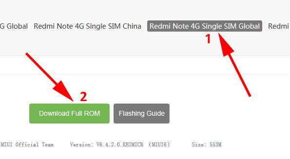 Upgrade, Root Redmi Note 4G/LTE Kitkat 4 4 4 V6 – Versi
